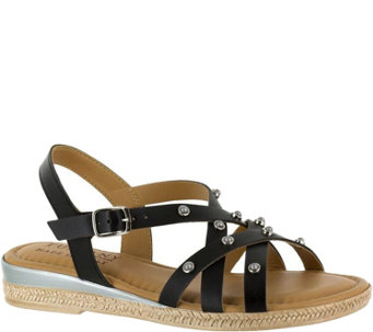 Tuscany by Easy Street Studded Sandals - Renata - A356942