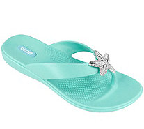 Oka B Thong Sandals with Starfish Embellishment- Oliver - A359242