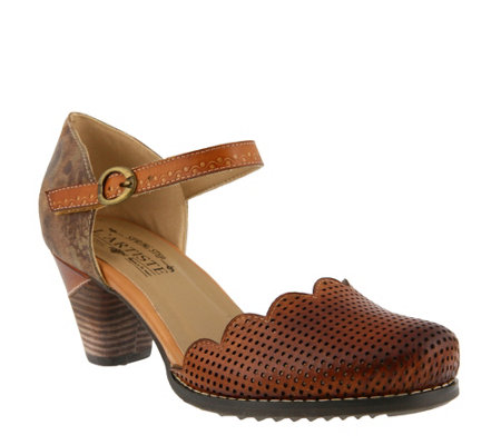 L'Artiste by Spring Step Leather Mary Janes -Parchelle
