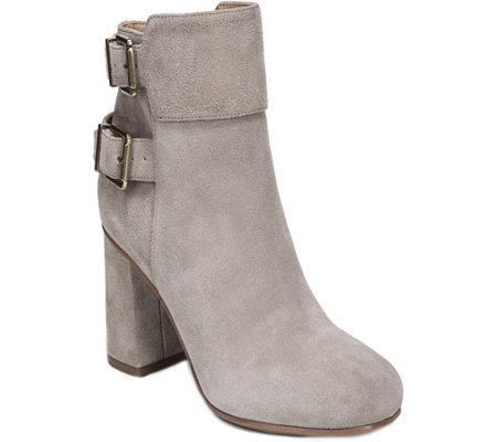 Franco Sarto Leather Ankle Boots - Kline