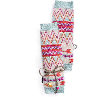 MUK LUKS Women's Free Fairisle Arm Warmers