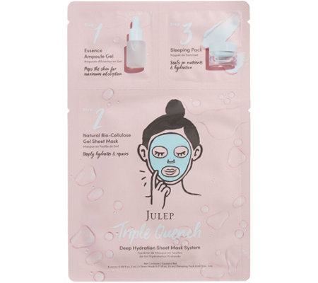 Julep Triple Quench Deep Hydration Sheet Mask System