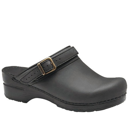 Dansko Open-Back Leather Clogs - Ingrid