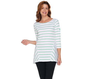 Linea Leisure by Louis Dell'Olio Stripe Swing Tee - A227743