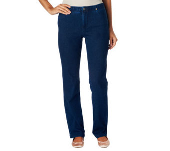Isaac Mizrahi Live! Icon Grace Knit Denim Jeans - A228343
