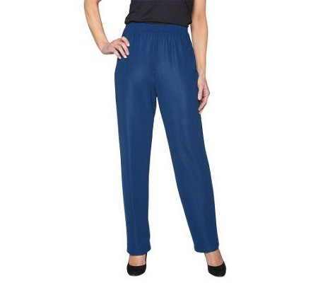 """As Is"" Susan Graver Essentials Knit Petite Pull-on-Pants"