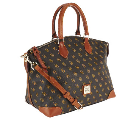 """As Is"" Dooney & Bourke Gretta Coated Cotton Satchel"