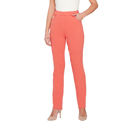 Quacker Factory DreamJeannes Slim Leg Pants
