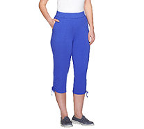 Denim & Co. Active French Terry Capris w/ Side Drawstrings - A264843