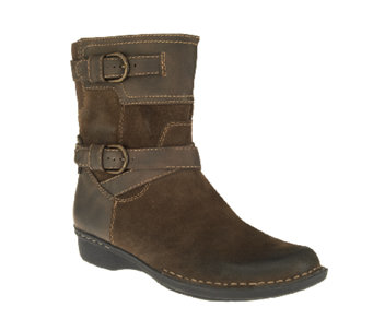 """As Is"" Clarks Suede Ankle Boots - Whistle Ranch - A267243"