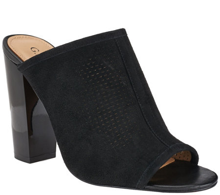 G.I.L.I. Perforated Leather Mules - Priscilla