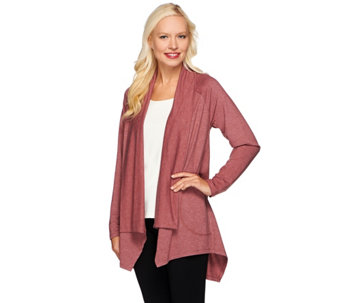 LOGO Lounge by Lori Goldstein Knit Cardigan w/Handkerchief Hem - A271143