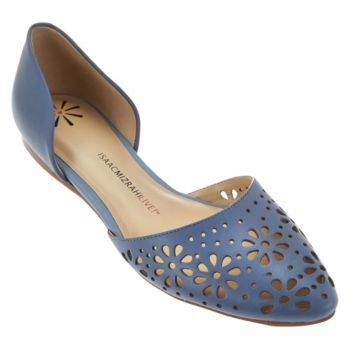 Isaac Mizrahi Live! Perforated Leather D'Orsay Flats