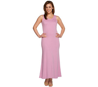 Isaac Mizrahi Live! Regular Essentials Maxi Dress w/ Godets - A275543