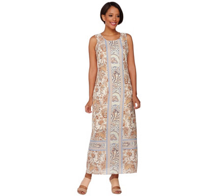C. Wonder Engineered Print Sleeveless Maxi Dress