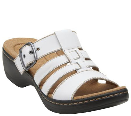 """As Is"" Clarks Multi-Strap Slide Sandals - Hayla Cavern"