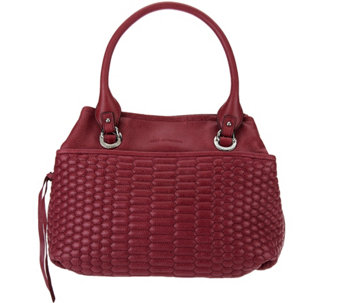 """As Is"" Aimee Kestenberg Quilted Vintage Leather Shopper - Kiley - A280443"