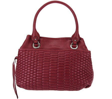 """As Is"" Aimee Kestenberg Quilted Vintage Leather Shopper - Kiley"