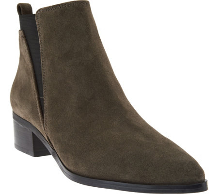 Marc Fisher Suede Chelsea Ankle Boots - Ignite