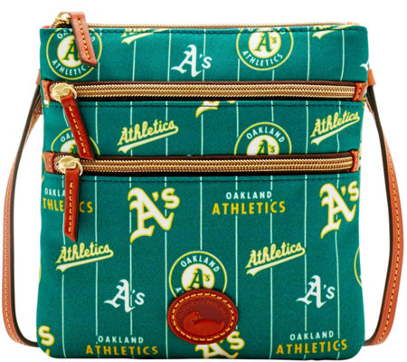 Dooney & Bourke MLB Nylon Athletics Triple Zip Crossbody