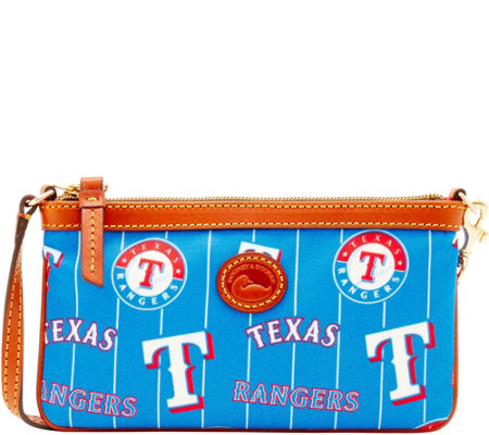 Dooney & Bourke MLB Nylon Rangers Large Slim Wristlet