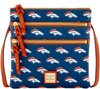 Dooney & Bourke NFL Broncos Triple Zip Crossbody - A285643