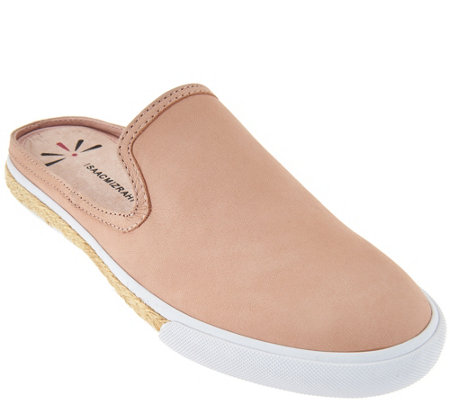 Isaac Mizrahi Live! Leather or Suede Slide Sneakers