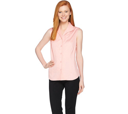 Linea by Louis Dell'Olio Wing Collar Sleeveless Blouse