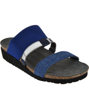 Naot Leather Triple Strap Slide Sandals - Brenda