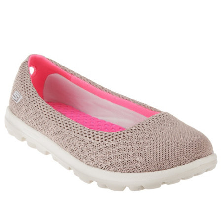 """As Is""Skechers On-the-GO Mesh Ballet Flats with GOga Mat- Ritz"