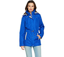 Susan Graver Zip Front Anorak Jacket with Knit Accents - A288743