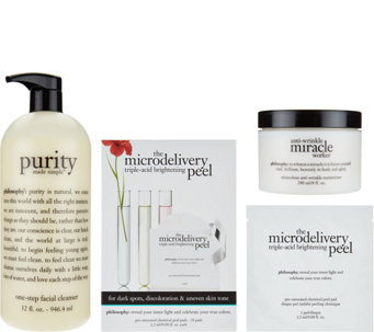 philosophy super-size cleanse, peel & treat trio Auto-Delivery - A290543