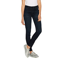 Hot in Hollywood Silky Denim Petite Pull-On Skinny Jeans - A290643