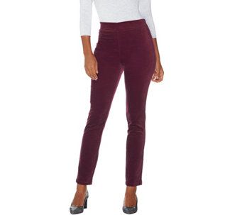 """As Is"" LOGO by Lori Goldstein Brushed Corduroy Slim Leg Pants - A292343"