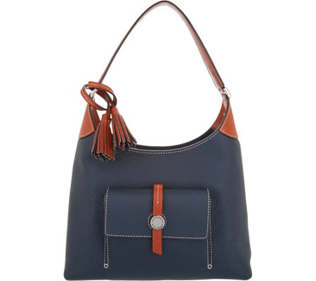 Dooney & Bourke Pebble Leather Cambridge Hobo