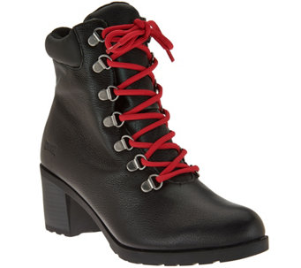 """As Is"" Cougar Waterproof Leather Lace-Up Boots - Angie - A294143"