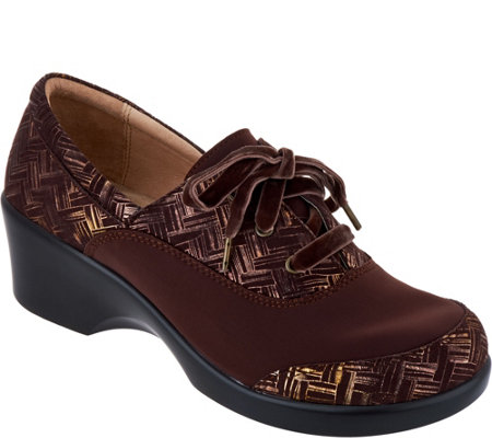Alegria Dream Fit Leather Lace-up Shoes - Madi