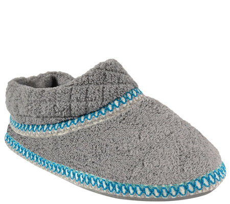 MUK LUKS Rita Micro-Chenille Full-Foot Slippers
