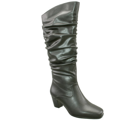 David Tate Tall Scrunch Boots - Pacific