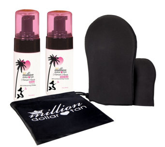 Million Dollar Tan Mermaid Mousse Extreme Face/Body & Mitt Set - A339943