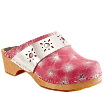 Cape Clogs Leather Clogs - Starburst - A340543