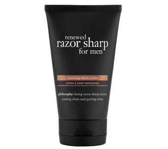 philosophy renewed razor sharp for men shavingcream, 5 oz - A340643
