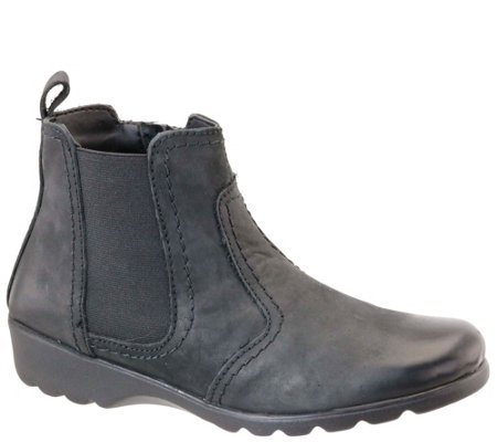 Napa Flex by David Tate Nubuck Leather Boots -Jet