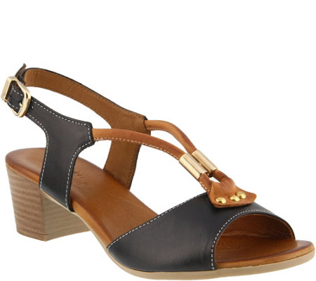 Spring Step Leather Sandals - Roselyn