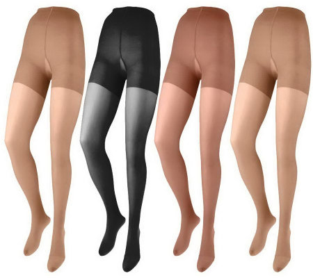 Legacy Legwear Set of 4 Bodyshaper Pantyhose