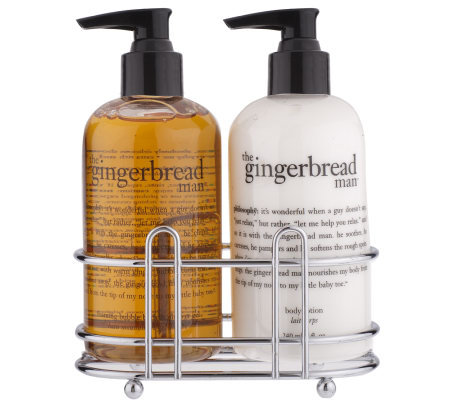 Philosophy Holiday Scented 2pc Shower Gel Body Lotion: hand wash and lotion caddy