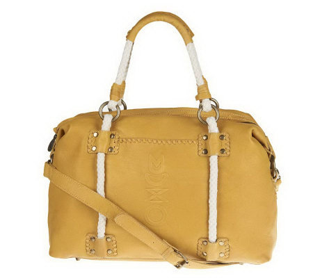 Muxo by Camila Alves Leather Satchel with Rope Detail