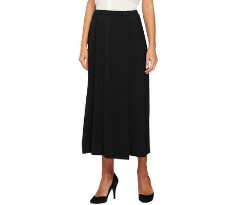 Linea by Louis Dell'Olio Knit Skirt with Faux Wrap and Button Detail