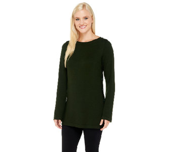 Linea by Louis Dell'Olio Whisper Knit Side Button Tunic - A236144