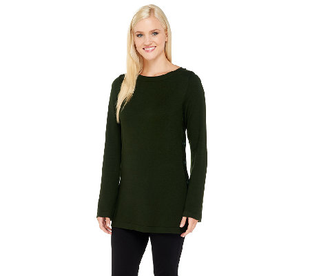 Linea by Louis Dell'Olio Whisper Knit Side Button Tunic